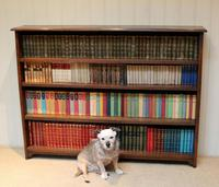 Large Solid Oak Open Bookcase (3 of 9)