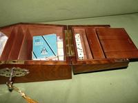 Solid Figured Oak Games Box + Accessories c.1890 (14 of 18)