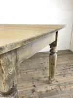 Antique Pine Farmhouse Style Kitchen Table (5 of 13)