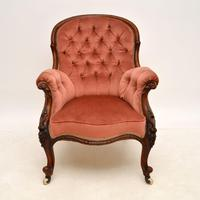 Antique Victorian Carved  Mahogany Armchair (2 of 11)