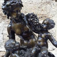 French Patinated Bronze Bacchanalian Group after Clodion (4 of 6)