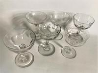 Victorian Harlequin Set of Cut / Etched Champagne Bowls (7 of 8)