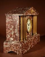 Grand Tour Style Very Decorative French Gilded Brass & Marble Clock Garniture (6 of 14)