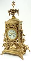 Impressive Antique Candelabra 8-day Clock Set French Striking Rococo Ormolu Bronze Mantel Clock (9 of 15)