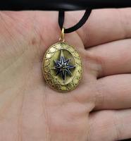Victorian Diamond Star Pendant, Blue Enamel, 9ct Gold (9 of 11)