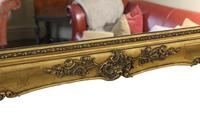 Antique Large Quality 19th Century Gilt Wall Mirror Overmantle (2 of 10)