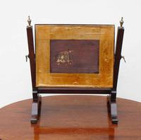 Small Victorian Mahogany Dressing Table or Toilet Mirror (7 of 8)