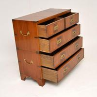 Antique Mahogany  Military Campaign Chest of Drawers (9 of 11)