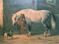 Aft: Emil Volkers Beautiful Vintage Framed Equestrian Print On Board (12 of 12)