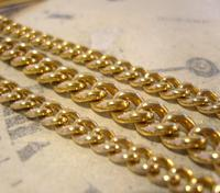 Antique Pocket Watch Chain 1890s Victorian Large 14ct Gold Filled Albert With T Bar (5 of 12)