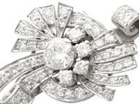 4.39ct Diamond & Platinum Earrings - Art Deco - Vintage c.1940 (2 of 9)