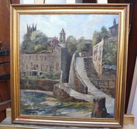 Oil on Canvas Cornish Seascape Listed Artist Dora Johns 1966 (10 of 10)