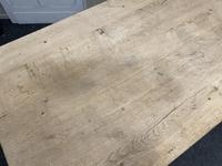 French Rustic Bleached Oak Farmhouse Kitchen Table (16 of 23)