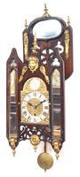 Very Rare English Fusee 5 Inch Dial Wall Clock Mahogany Gothic Ormolu Wall Clock by James Parker Cambridge (10 of 12)