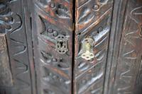 Grained Carved Rustic Hanging Cupboard (11 of 12)
