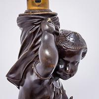 19th Century Bronze Lamp (3 of 5)