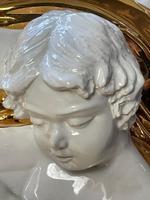 Beautiful Hollywood Regency Style Oversized Porcelain & Terracotta Cherub Floor Vase (38 of 52)