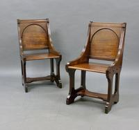 A Pair 19th Century Of Hall Chairs (4 of 6)
