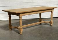 Nice Bleached Oak Farmhouse Dining Table (4 of 19)