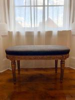 Antique French Carved Giltwood & Gesso Window Seat Bench (11 of 13)