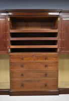 19th Century Mahogany Breakfront Wardrobe (7 of 12)
