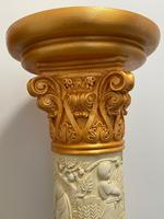 Dutch Golden Age Style Gilt Harvest Relief Plinth Display Torcheres (56 of 87)