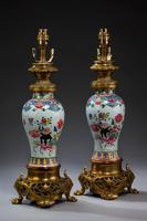 Pair of 19th Century Canton Porcelain Lamps (5 of 5)
