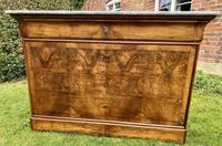 French Figured Walnut Louis Philippe Commode