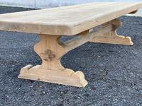 Huge French Bleached Oak Farmhouse Dining Table (16 of 34)
