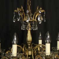 Italian Gilded Brass 8 Light Antique Chandelier (3 of 8)