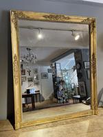 Antique Gilt Overmantle Mirror