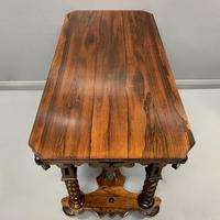 19th Century English Rosewood Library Table (2 of 6)