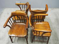 Set of 6 Red Walnut Captain's Chairs by W. Walker & Son (7 of 11)