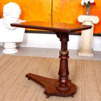 Portable Adjustable Writing Desk 19th Century Mahogany (3 of 12)