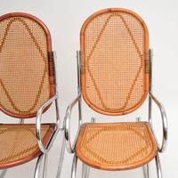 1970's Pair of Retro  Chrome & Bamboo Rocking Chairs (6 of 13)