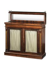 Mahogany Chiffonier the Top Section with a Mirror