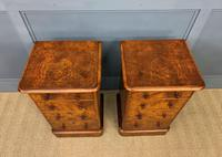 Pair of Burr Walnut Bedside Chest by Heal and Son (4 of 16)