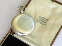 Antique Silver Revue Half Hunter Pocket Watch (5 of 5)
