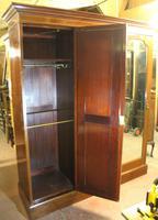 1900s Large 3 Door Mahogany Mirrored Wardrobe with Inlay. Good Interior (5 of 5)