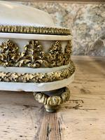 19th Century French White Marble Stand with Ormolu Decoration (5 of 8)