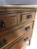 Antique Vintage Walnut Chest of Drawers (7 of 10)