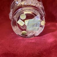 """Lalique """"Saumur"""" Leaf and Berry Pattern Clear and Frosted Glass Heavy Vase (6 of 7)"""
