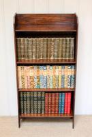 Oak Open Bookcase c.1920 (3 of 8)