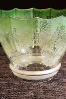 Antique Victorian Pale Green Oil Lamp Shade (2 of 6)