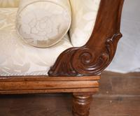 Regency Chaise Longue Sofa Walnut Lounge Day Bed (10 of 25)