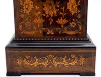 Wonderful Offices French Empire Mantel Clock Carved Floral Inlay (8 of 10)