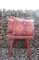 Early 20th Century, Antique Swedish Woven Textile, Geometric Patterned 're-stuffed cushions' (5 of 20)