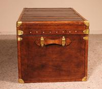 English Travel Chest in Leather - Early 20th Century (9 of 11)
