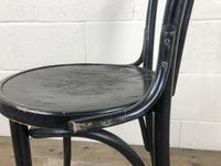 Set of Four Ebonised Bentwood Café Chairs (6 of 14)