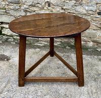 Antique Georgian Oak Cricket Table (8 of 15)